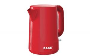 Fierbator Zass ZCK 10 RL Red Line, 2200 W, 1,7 L, baza rotativa, sistem de oprire automat/manual, indicator nivel apa, indicator luminos