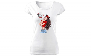 Tricou de dama ALB Take me to disney