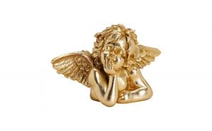 Ingeras ceramic auriu, 23x15x11 cm
