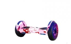 Scooter electric 10 inch, boxe, bluetooth, lumini pe aripi si roti, culoare roz