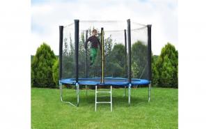 Trambulina pentru copii, cu plasa de protectie si scara, 183 cm