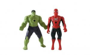 Set 2 figurine Avengers Hulk si Spider-Man cu functie de proiectie