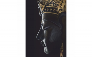 Tablou Canvas Buddha, 40 x 60 cm, 100% Bumbac