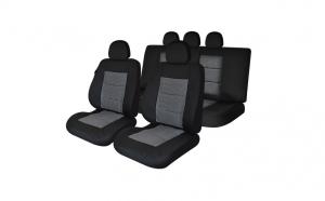 Huse scaune auto compatibile NISSAN Pathfinder IV 2013-prezent PLUX (Negru UMB1)