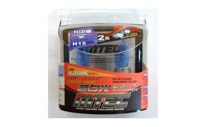 SET 2 Becuri auto H15 MTEC super white - efect xenon