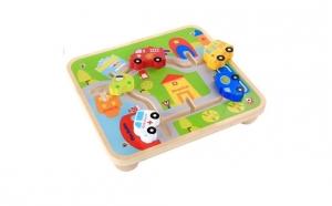 """Joc lemn Labirint Kabi """"Cursa masinilor"""""""