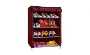 Organizator pantofi cu husa, 4 etajere Shoes Shelf