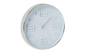 Ceas de perete Argintiu metalic, 30 cm