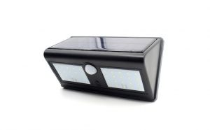 Lampa solara dubla