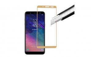 Folie Sticla Securizată Full Screen Samsung Galaxy A6 Plus 2018,Gold