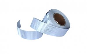Rola banda reflectorizanta alba tip fagure 5cm x 50m HL