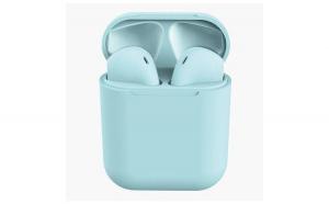 Casti Wireless, InPods 12, Albastru  EarBuds, pentru iOs & Android, Bluetooth 5.0, Bass Boost