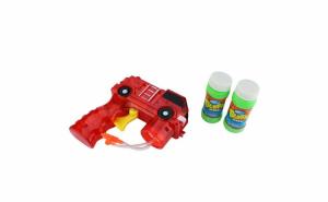 Set pistol masina pompieri+2 recipiente cu solutie baloane de sapun