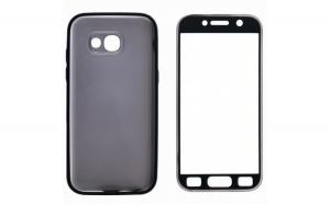 Husa Samsung Galaxy A5 2017 Flippy Full Silicone 360 Negru + Folie de protectie