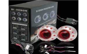 Lupe Bi-xenon Devil Eyes RED 2.5 inch 001R