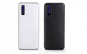 1+1 Gratis: Baterie externa Smart Power Bank 20000 mAh, 3 x USB design piele