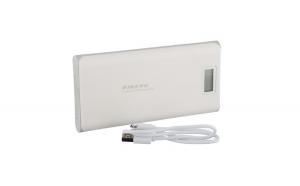 Set 2 produse - Baterie externa portabila Pineng PN-999, 20000 mAh, 5V, 2 porturi USB, afisaj LED, Alb-Gri + Suport Universal de Birou Pentru Tablete sau Telefoane