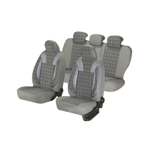 Huse scaune auto RENAULT MEGANE II 2001-2010  dAL Luxury Gri,Piele ecologica + Textil