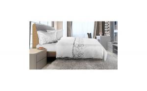 Lenjerie de pat pentru 2 persoane, Blanca Heinner Home, 100% bumbac, 4 piese
