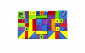 Set 48 cuburi din burete (spuma)