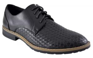 Pantofi negri barbati model Aligator, Incaltaminte de sezon