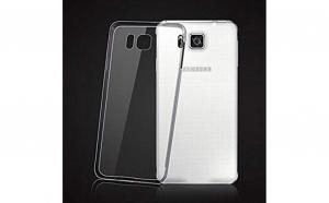 Husa slim silicon Samsung Galaxy Alpha G850 Transparenta
