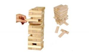 Joc de societate din lemn tip Jenga