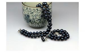 Set perle negre de
