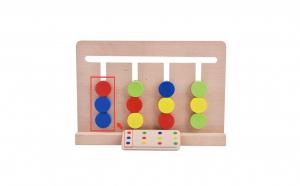 Joc Montessori de asociere si labirint