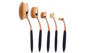 Set 5 Pensule Ovale Profesionale ROYAL Flawless Finish Collection