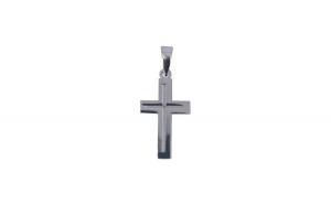 Pandantiv Argint 925 Cruce Rodiata + Snur Martisor