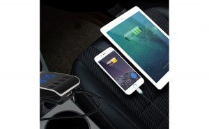 Modulator FM, Bluetooth, Car Kit OEM USB Q10 + 2 cabluri adaptoare