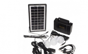 Kit panou solar: panou solar - 3 becuri