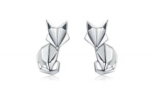 Cercei din argint 925 Fashion Folding