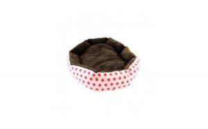 Culcus pentru animale de companie, 33 x 38 cm, Maro/ Roz