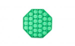 Jucarie antistres POPIT din silicon 12 cm - verde - octogon