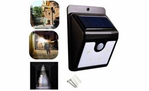 Lampa cu incarcare solara, 4 x LED, senzor miscare