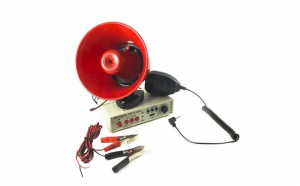 Portavoce megafon auto, 12V, 25W, inregistrare, suport magnetic