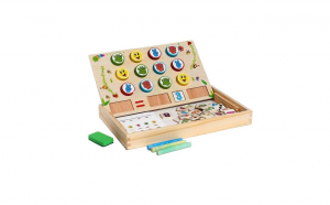 Tabla lemn Montessori 3 in 1