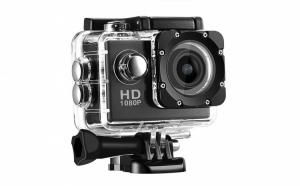 Camera sport, rezistenta la apa, Full HD 1080p - accesorii incluse