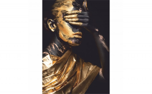 Tablou Canvas Golden Cover, 40 x 60 cm, 100% Poliester