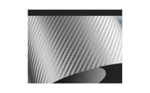 Folie carbon 5D argintiu 1 5 x 1m SCF33S