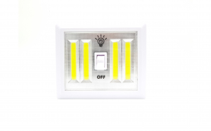Lampa de veghe, tip intrerupator, led, magnet, 4 surse lumina