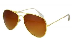Ochelari de soare Aviator  - Maro/Gold