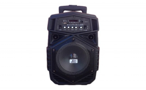 Boxa tip troler JRH A84, 200 W, 1800 mAh, USB, microfon wireless, telecomanda