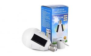 Bec waterproof 2 in 1, cu incarcare solara si panouri solare incorporate