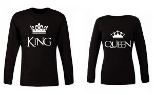 Set bluze de cuplu KING/QUEEN PB001