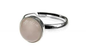 Inel argint reglabil cu cuart roz