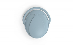 Perie din silicon pentru par, masaj scalp, copii/adulti, bleu, 11 cm
