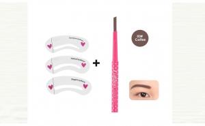 Creion Waterproof pentru sprancene + Sabloane contur sprancene